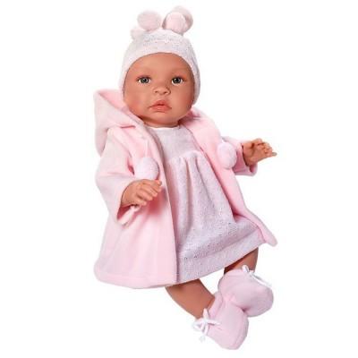 0181620 Кукла Asi: Бебе Лея с розово палто и шапчица