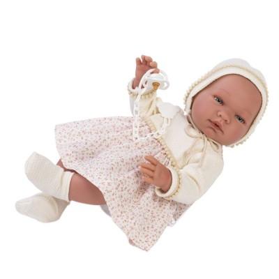 0365030 Кукла Asi: Бебе Мария с рокля на цветя и биберон