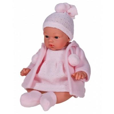 0401620 Кукла Asi: Бебе Коке с рокля и палтенце с качулка