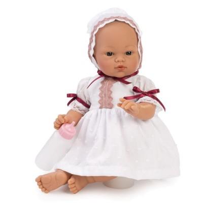 0405010 Кукла Asi: Бебе Коке с бяла дантелена рокля