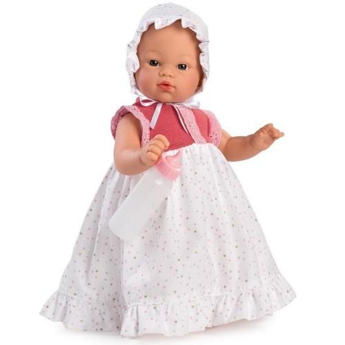 405760 Кукла Asi: Бебе Коке с дълга рокличка и биберон