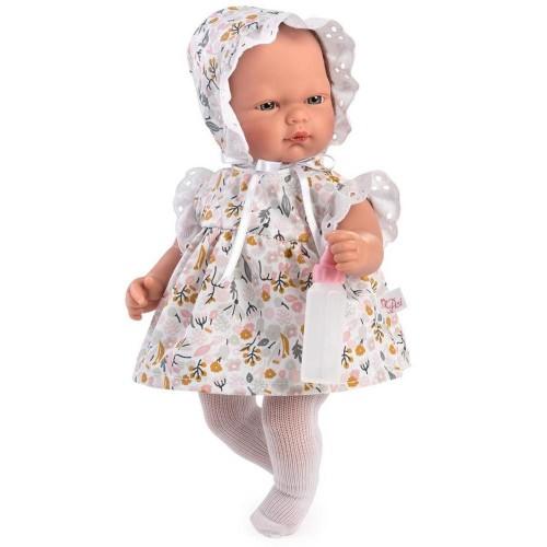 455780 Кукла Asi: Бебе Оли с рокля на цветя и биберон