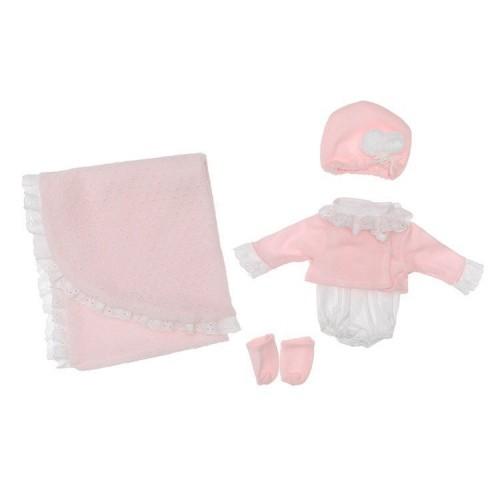 340352 Asi: Дрехи за кукла: Ританки с жилетка, шапка и одеяло