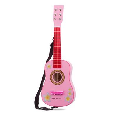 10348 Детска китара: розова с цветя