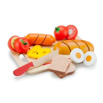 10578 Дървен комплект със храна за рязане: Закуска