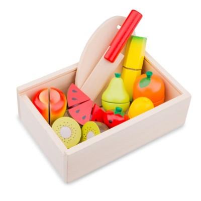 10581 Дървен комплект с плодове за рязане