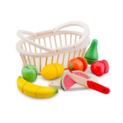 10588 Дървена кошница с плодове за рязане