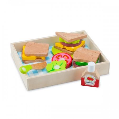 10591 New Classic Toys: Комплект с храна за рязане, Пикник