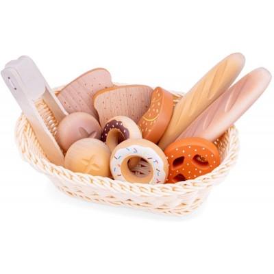 10605 New Classic Toys: Дървена кошница с хлебчета