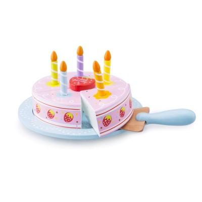 10628 Дървена ягодова торта за рожден ден