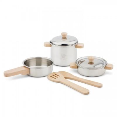 10640 Детски комплект със съдове за готвене, метален