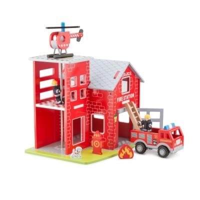 11020 Дървена пожарна станция