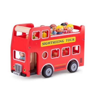11970 Дървен автобус с пътници