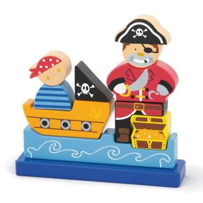 50077 VIGA Дървен 3D пъзел с пирати