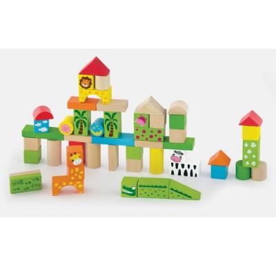 50286 VIGA Дървени строителни блокчета: Джунгла