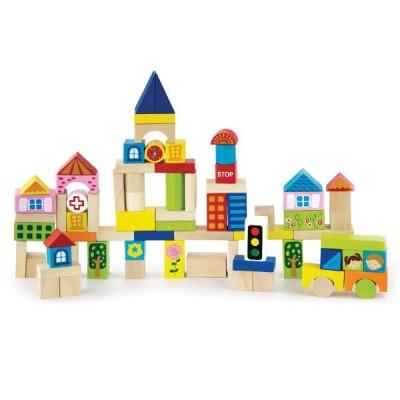 50287 VIGA Дървени строителни блокчета: Градът