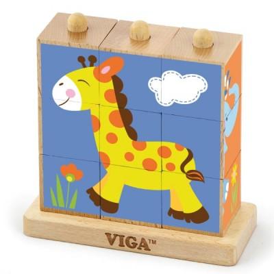 50834 VIGA Дървени кубчета: Диви животни