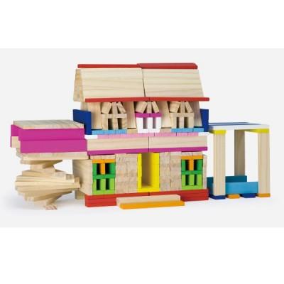 50956 VIGA Комплект от цветни дървени блокчета: 250 части