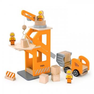 51616 VIGA Дървен кран с камион