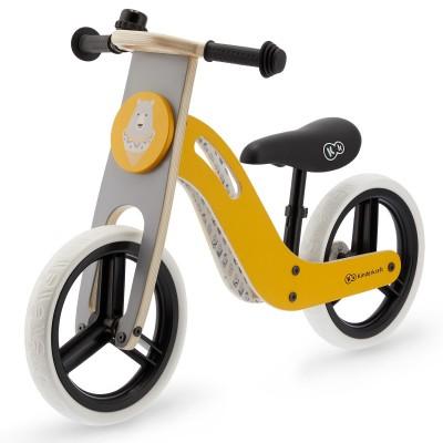 022551 KinderKraft UNIQ Natural: Дървено колело за баланс