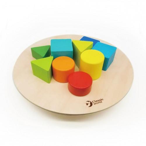 5090 Classic World: Дървена игра за баланс с цветни фигури