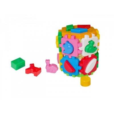 632001 Детски куб/сортер с цветни елементи