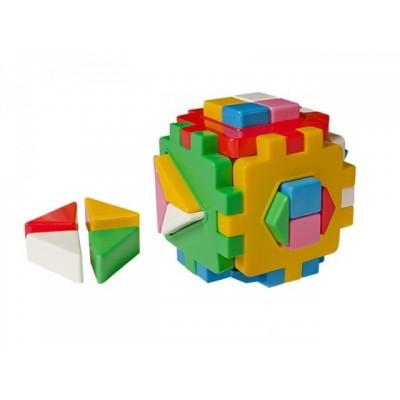 632469 Цветен куб/сортер с фигури