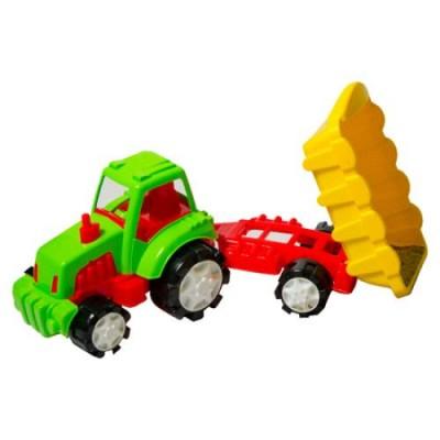 654542 Burak Toys: Трактор с ремарке
