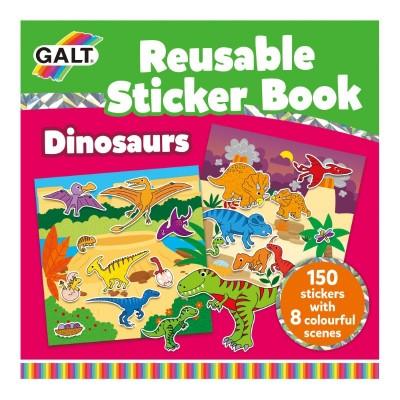 1005101 Galt: Детска книжка със стикери: Динозаври