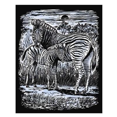 1018 KSG crafts: Гравиране на сребърна основа: Зебри