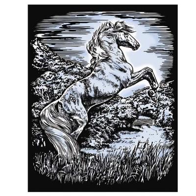 1033 KSG crafts: Гравиране на сребърна основа: Жребец
