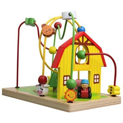 10062 Lelin Toys Дървен лабиринт: Ферма