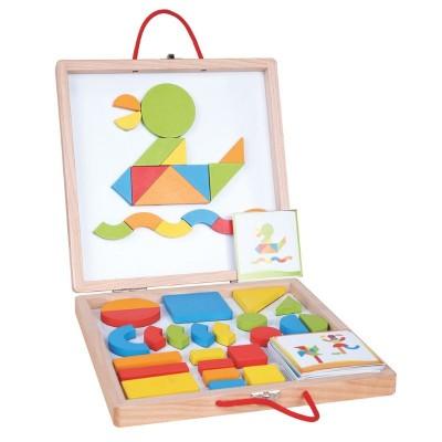 30021 Lelin Toys Куфарче с магнитни цветни форми