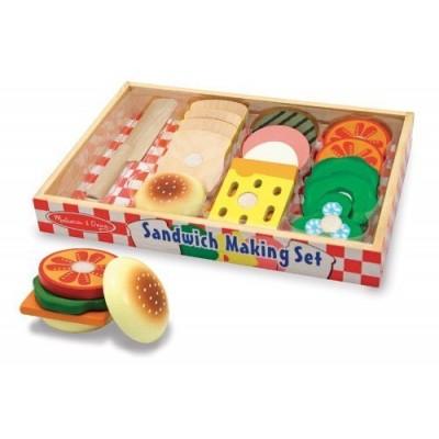 10513 Комплект с дървена храна за сандвич