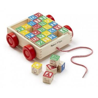 11169 Количка с дървени кубчета: Азбука