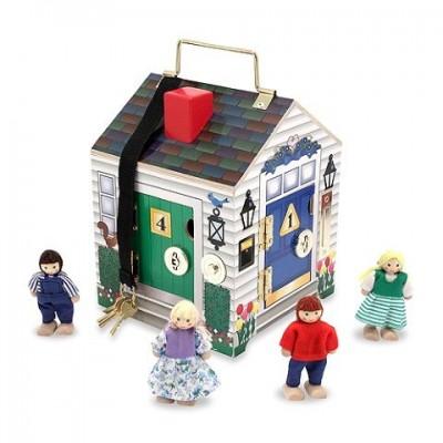 12505 Melissa&Doug: Дървена къщичка с кукли
