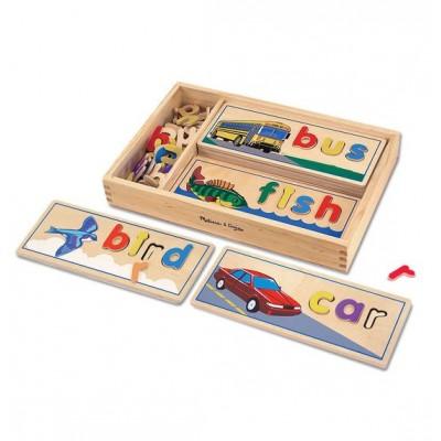 12940 Детска игра/пъзел с букви и картинки