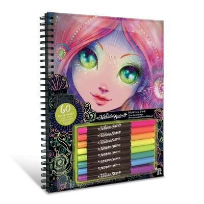 11111 Nebulous Stars: Книжка за оцветяване с неонови флумастери