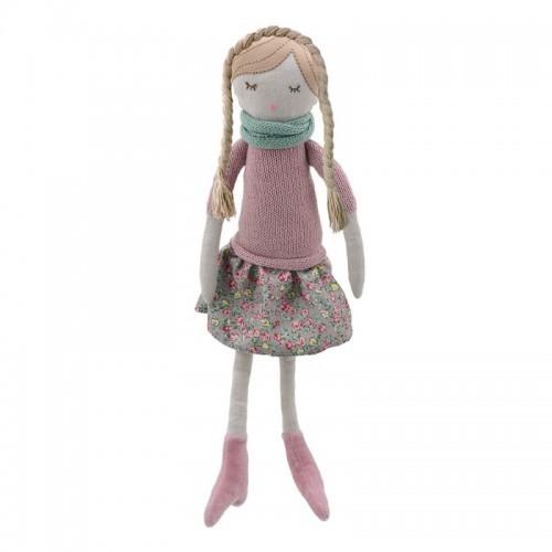 1017WB Парцалена кукла: Розово момиче, 38 см