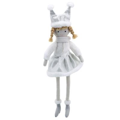 1018WB Парцалена кукла със сребърни дрешки, 32 см