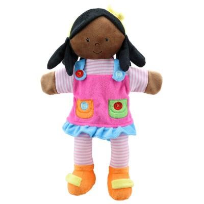 1905PC Кукла за куклен театър: Момиче с тъмна кожа