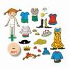 443807 Pippi: Магнитна кукла с дрехи: Пипи дългото чорапче