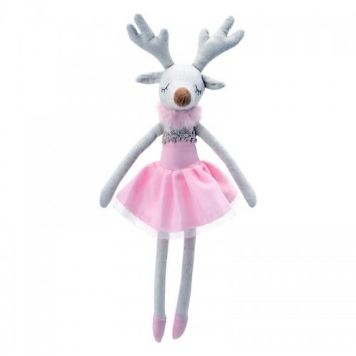 WB004111 Парцалена кукла: Еленче с розова рокля, 30 см