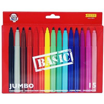 10216 Sense Флумастери Basic Джъмбо - 15 цвята