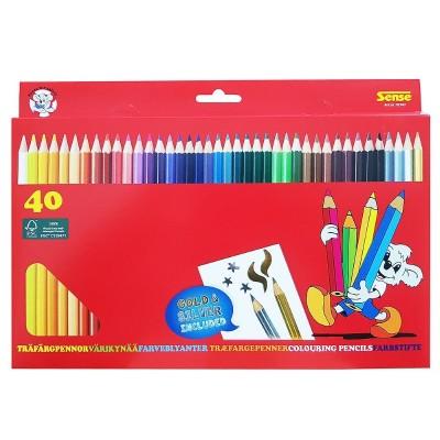 10341 Sense: Цветни моливи, 40 броя