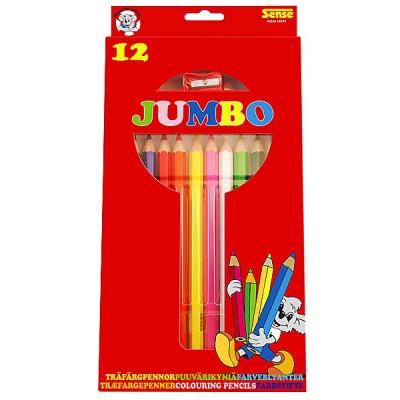 10347 Sense: Цветни моливи Джъмбо, 12 броя