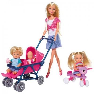6350 Simba: Кукла Барби: Стефи с 3 бебета