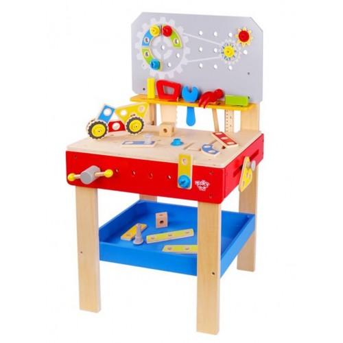 TKC466 Tooky Toy: Дървена работилница с менгеме и инструменти